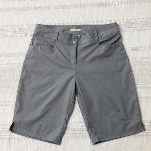 Adidas women's gray shorts